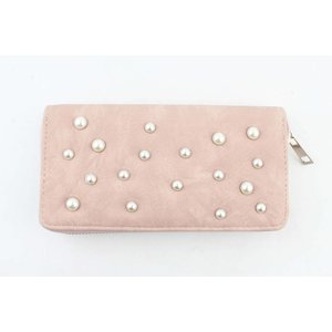 "Portemonnee ""Pearls"" roze"