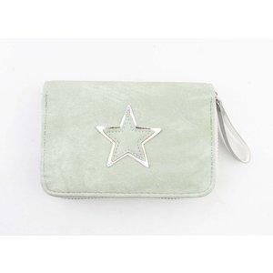 "Wallet ""Shiny star"" mint green"
