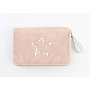 "Portemonnee ""Shiny star"" roze"