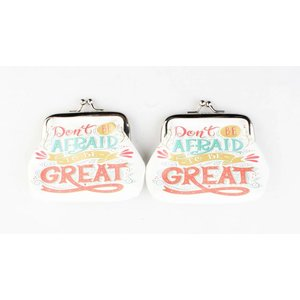 "Coin purse ""Don't be afraid"" white, per 2pcs."