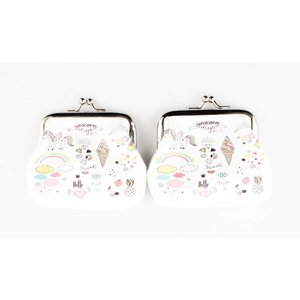 """Coin purse """"Unicorn magic"""" white, per 2pcs."""