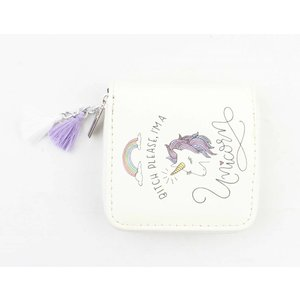 "Mini wallet ""I'm a unicorn"" white"