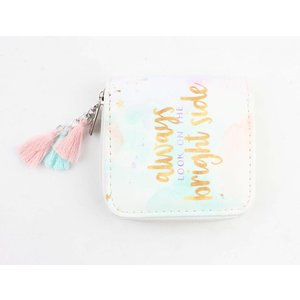 "Mini wallet ""Bright side"" white"