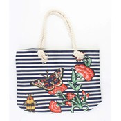 "Strandtasche ""Nautical butterfly"" blau"
