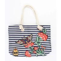 "Beach bag ""Nautical butterfly"" blue"