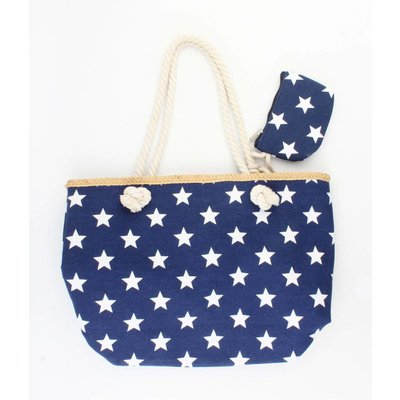 """Beach bag """"Nautical stars"""" blue"""