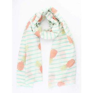 "Sjaal ""Stripes & Pineapples"" mint"