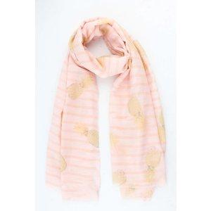 """Sjaal """"Stripes & Pineapples"""" roze"""