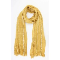 """Scarf """"Laurie"""" yellow ochre"""