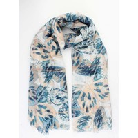 """Scarf """"Big butterfly"""" blue"""