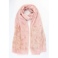 "Scarf ""Faith"" pink"