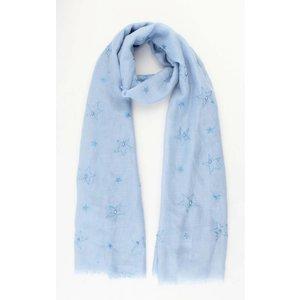 "Scarf ""Stars & Pearls"" blue"