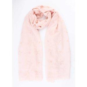 "Scarf ""Stars & Pearls"" pink"