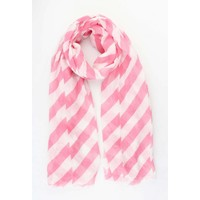 "Sjaal ""Crazy stripes"" roze"