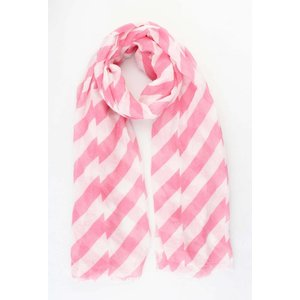 "Scarf ""Crazy stripes"" pink"
