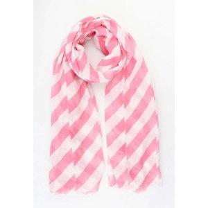 """Schal """"Crazy Stripes"""" rosa"""