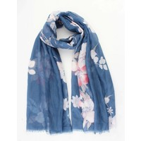 "Scarf ""Spring flowers"" blue"