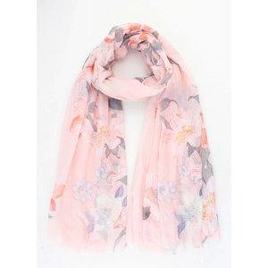"""Sjaal """"Spring flowers"""" roze"""