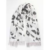 """Crazy Leopard Schal grau"