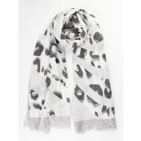 "Scarf ""Crazy leopard grey"