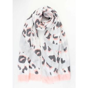 "Scarf ""Crazy leopard"" pink"