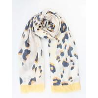 """Sjaal """"Crazy leopard"""" geel"""