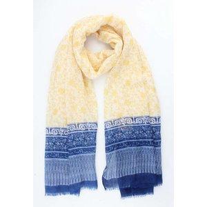 """Sjaal """"Mediterranee"""" geel"""