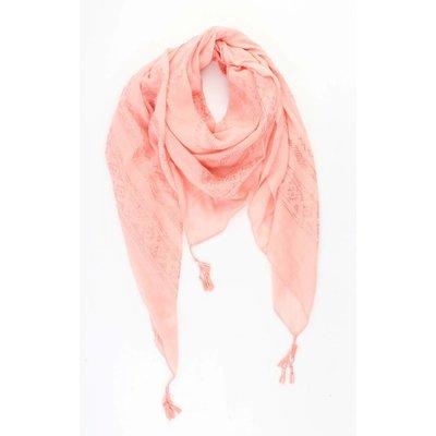 """Vierkante sjaal  """"Kayla"""" sorbet"""