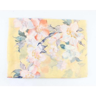 """Scarf """"Spring flowers"""" yellow"""
