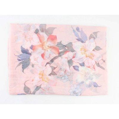 """Schal """"Frühlingsblumen"""" rosa"""