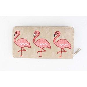 "Portemonnee ""Flamingo"" taupe"