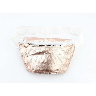 """Waist bag """"Paillette"""" rosé"""
