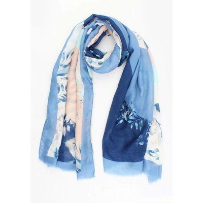 """Sjaal """"Laura"""" blauw"""