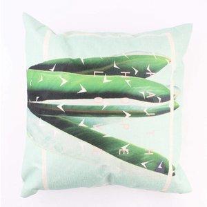"""Pillow """"Sansevieria"""" sage green"""