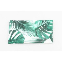"Glasses cover ""Palm leaves"" green"