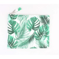 "Make-up tas XL ""Palmbladeren"" groen"