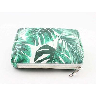 "Make-up bag ""Palm leaves"" green"