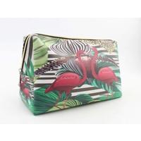 "Make-up bag ""Flamingo"" green"