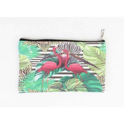 """Make-up bag Small""""Flamingo"""" green"""