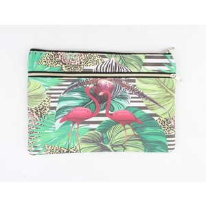 "Toilet bag ""Flamingo"" green"