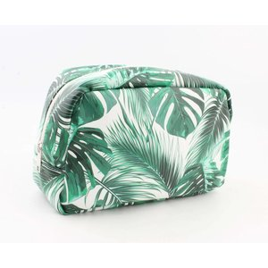 "Toilet bag XL ""Palm leaves"" green"