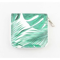 "Wallet Small ""Palm leaves"" green"
