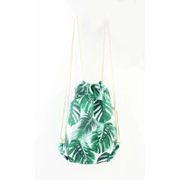 "Backpack ""Palm leaves"" green"