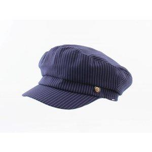 "Skipper Kappe ""Kreide Streifen"" blau"