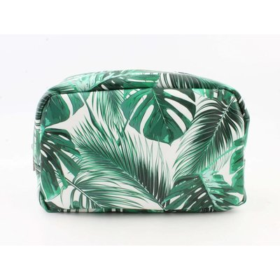 "Toilet bag XL ""Palm leaves"" green"