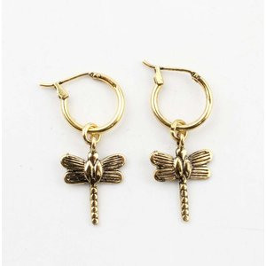"""Earring """"Dragonfly"""" gold"""