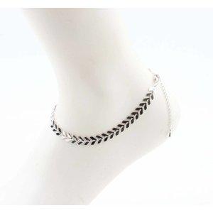 """Anklet """"V"""" silver"""