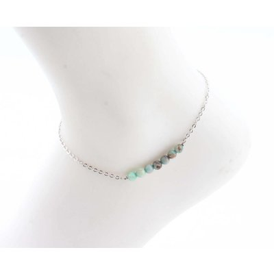 "Anklet ""Andean Opal"" turquoise"