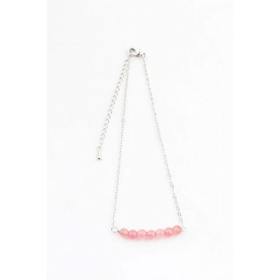 "Anklet ""Rose quartz"" pink"