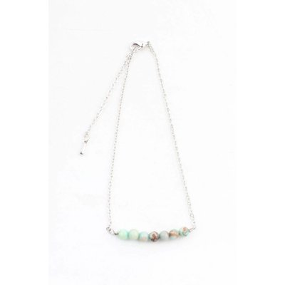 """Anklet """"Andean Opal"""" turquoise"""